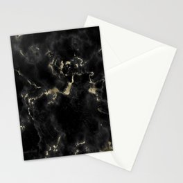 Black and Gold Marble Stationery Cards