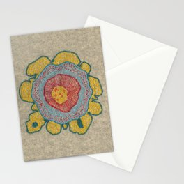 Growing - Pinus#1 - embroidery based on plant cell under the microscope Stationery Cards