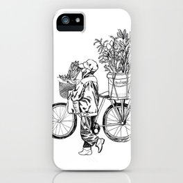 Bicycle Flower Seller in Hanoi in Pencil iPhone Case