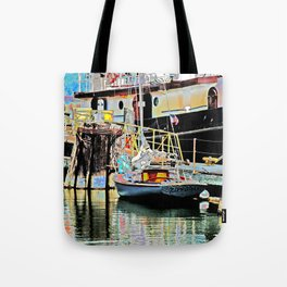 A Harbor view of Coos Bay Tote Bag
