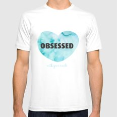 Obsessed with your smile Mens Fitted Tee MEDIUM White