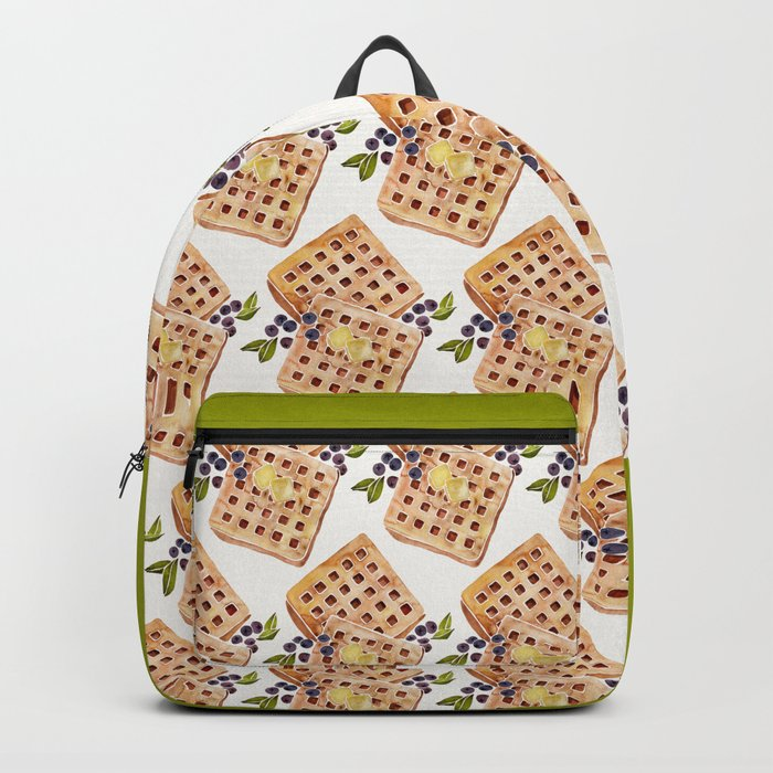 Blueberry Breakfast Waffles Backpack