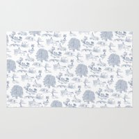 gandalf Area & Throw Rugs featuring Shire Toile by Jackie Sullivan
