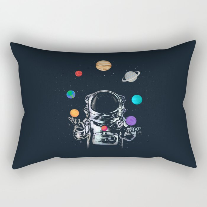 Space Circus Rectangular Pillow