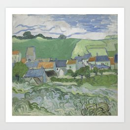 View of Auvers Art Print