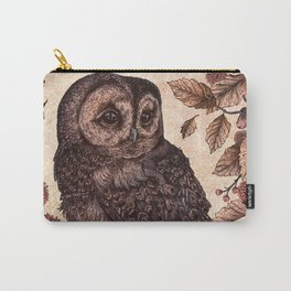 Tawny Owl Pink Carry-All Pouch