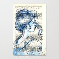 geisha Canvas Prints featuring Geisha by Karen Hallion Illustrations