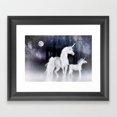 FANTASY - Unicorns Framed Art Print