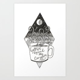Campfire Mug Art Print