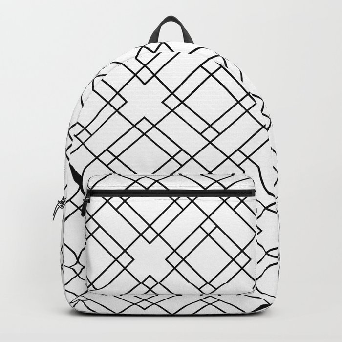 Simply Mod Diamond Black and White Backpack