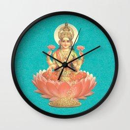 Lakshmi, Goddess of Love (Turquoise) Wall Clock