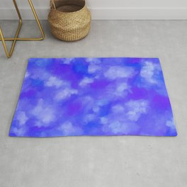 Abstract Clouds - Rich Royal Blue Rug