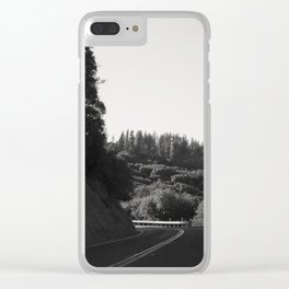 Wine Country Mountain Driving Clear iPhone Case