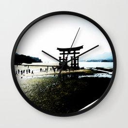 The Gate of Miyajima Wall Clock