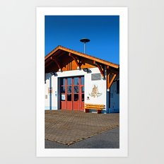 The new firestation of Neureichenau | architectural photography Art Print