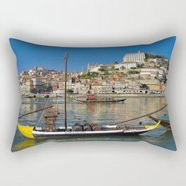 Port wine barges on the Douro, Porto Rectangular Pillow