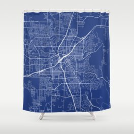 Huntsville Map, USA - Blue Shower Curtain