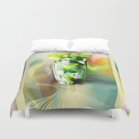 cocktail Duvet Covers featuring cocktail by tatiana-teni