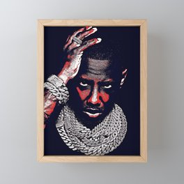 𝐇.𝕋.Ǥ.b.ㄚ. Rap Hip Hop Society6 Fabolous - Rapper - Rap Music Hip Hop NYC Brooklyn Glow Red Framed Mini Art Print