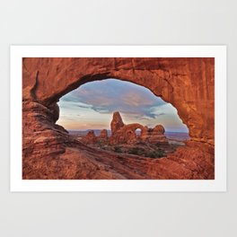 Arches National Park - Turret Arch Art Print