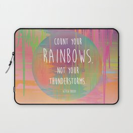 Count your Rainbows Laptop Sleeve