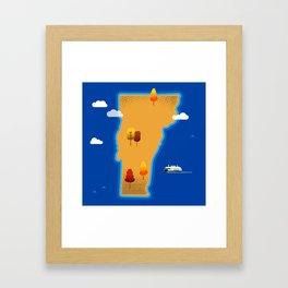 Vermont Island Framed Art Print