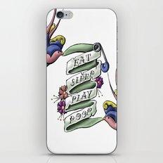 Eat Sleep Play Poop iPhone & iPod Skin