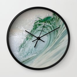 Glassy Wave Wall Clock