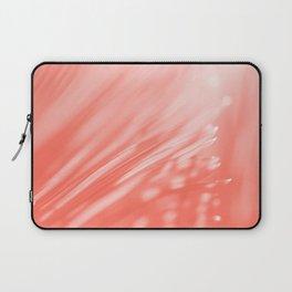 Pastel Living Coral Palm Tree Leaves Sunlight Orange Peach Tropical Floral Pattern Laptop Sleeve