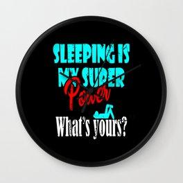 Sleep Late Risers Sleep Wall Clock