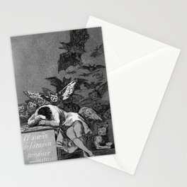 THE SLEEP OF REASON PRODUCERS MONSTERS - FRANCISCO GOYA Stationery Cards