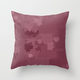 Crushed Berry Square Pixel Color Accent Throw Pillow