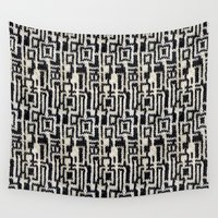 knit Wall Tapestries featuring Maze Knit by JoAnna Seiter