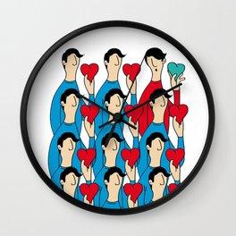 different heart Wall Clock