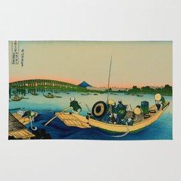 Ryogoku Bridge over the Sumida River Rug