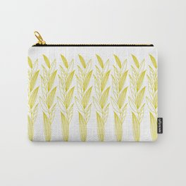Growing Leaves: Golden Yellow – White background Carry-All Pouch