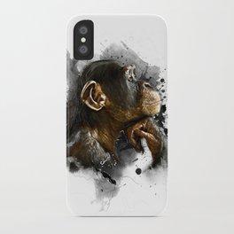 thinking monkey iPhone Case