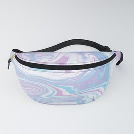 Iridescent marble watercolor Fanny Pack