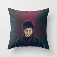 will graham Throw Pillows featuring Will Graham by margaw