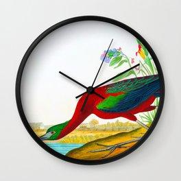 Glossy Ibis Bird Wall Clock