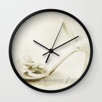 shoes Wall Clocks featuring Shoes by Felicia Caravaca