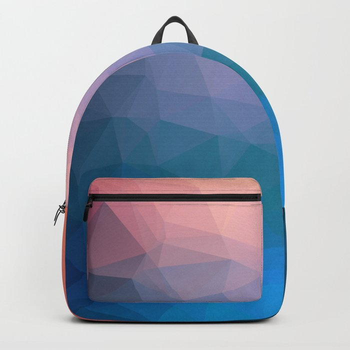 Abstract colorful triangles background Backpack