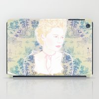 marie antoinette iPad Cases featuring MARIE ANTOINETTE by Itxaso Beistegui Illustrations