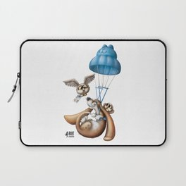 Flying basset Laptop Sleeve