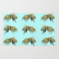 bee Area & Throw Rugs featuring Bee by Dief.
