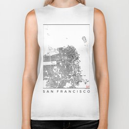 San Francisco Map Schwarzplan Only Buildings Biker Tank