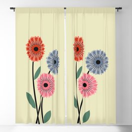 Bunch of retro flowers Blackout Curtain