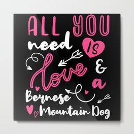 Bernese Mountain Dog  Gift Idea Cute Metal Print