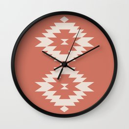Southwestern Minimalism - Coral Red Wall Clock