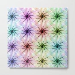 Color floral spiral Metal Print